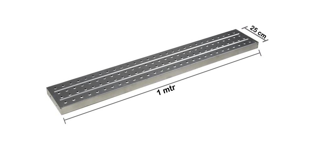 Metal Plank / Asiba 1 mtr x  1.6 mm x 25 cm