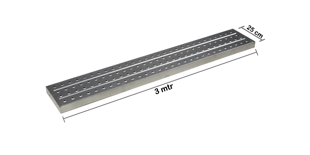 Metal Plank / Asiba 3 mtr x  1.2 mm x 25 cm