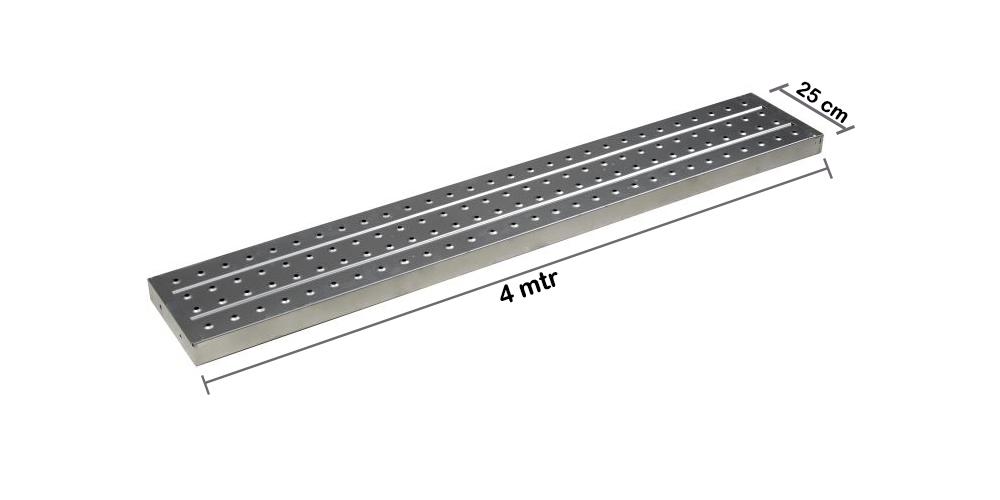 Metal Plank / Asiba 4 mtr x  1.2 mm x 25 cm