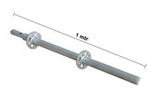 Vertical Post Ring Lock Galvanis 1 mtr x 3.2 mm