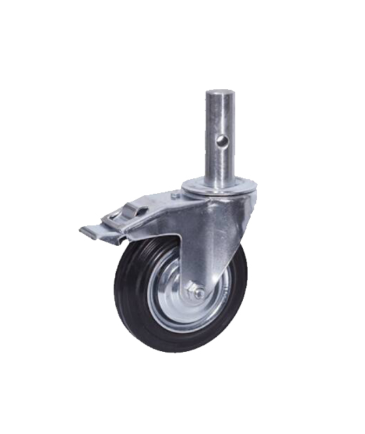 Roda / Caster 6 inch rubber with lock