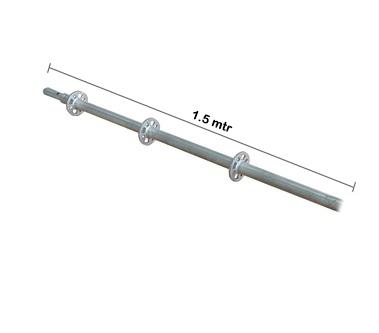 Vertical Post Ring Lock Galvanis 1.5 mtr x 3.2 mm